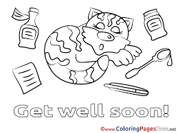 Coloring Pages Get Well Soon Coloring Pages For Boys Boy Kids To