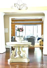 curved foyer table round entry hall table foyer curved front hall table plans decorating entry console