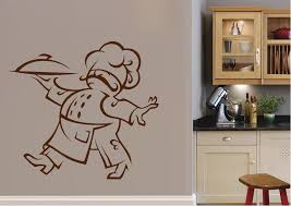 kitchen fat chef wall stickers