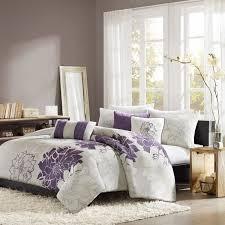 madison park bridgette purple 6 piece duvet cover set