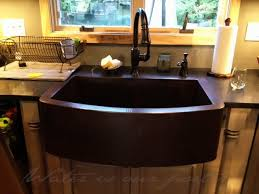 kitchen copper sink ks008cvcv farmhouse curvo