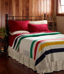 i ve always wanted a hudson bay blanket and maybe a big feather bed