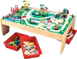 kidkraft train play table wooden train table wooden train table with 3 bins and piece waterfall kidkraft train play table