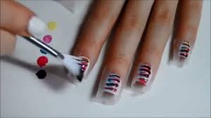 Beauty Inspiration from Avon: Striped Nails Tutorial - YouTube