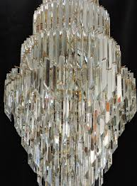 huge 5 mid century modern murano glass crystal prism chandelier in remarkable chandelier crystals prisms your home decor