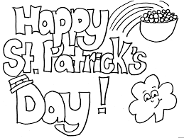 Small Picture ST PATRICKS DAY COLOURING PAGE St Patricks Day Pinterest