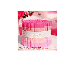fuschia pink crepe paper party streamer
