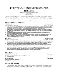 Electrical Engineer Resume Examples Electrical Engineer Resume Templates Resume Examples 8