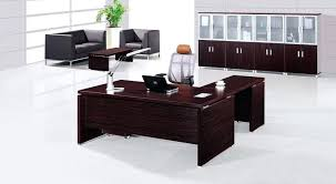 modern executive office design. Executive Office Desks Fascinating White Design With Stained Wood Desk And Bookcase Cabinet Featuring Black Leather Chair Sofa Modern