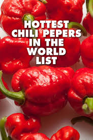 What Are The Hottest Peppers In The World 2019 List Chili