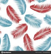 Tropische Palm Tree Bladeren Vector Naadloze Patroon Eenvoudige