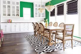 emerald green dining space walls