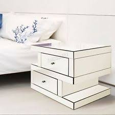 glass bedroom furniture. foxhunter mirrored furniture clear glass bedside cabinet table unit bedroom mt04