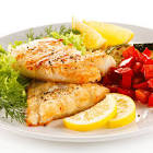 baked grouper with sauteed vegetables