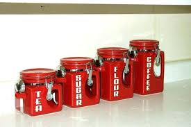 red glass canisters red and black kitchen canisters black kitchen canisters large size of kitchen vintage red glass canisters