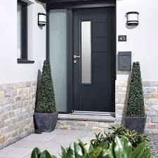 frosted glass external doors