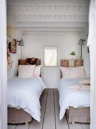 small bedroom decoration. Small Bedroom Decoration Trends Photo. Two Beds With White Linen In The Tight Area D