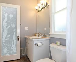 decorative frosted glass interior bathroom doors with wood frame