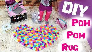 Diy Rug Diy American Girl Doll Pom Pom Rug Youtube