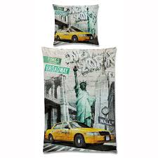 uber budget friendly duvet set nyc theme on one side graffiti on the other
