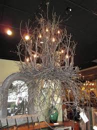 tree branch chandelier rustic crystal