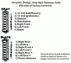 dodge car radio stereo audio wiring diagram autoradio connector car radio