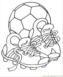 Small Picture Soccer Ball Coloring Pages coloring page Soccer S Shoes With The