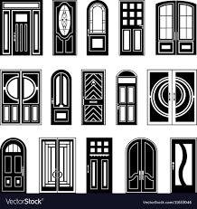 Door Vector Design House Doors Black Design Collection