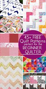 45 Free Easy Quilt Patterns - Perfect for Beginners - Scattered ... & 45 Free Easy Quilt Patterns perfect for the beginner quilter. #sewing # quilting # Adamdwight.com