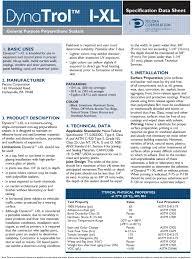 Dynatrol I Xl Color Chart Pecora Dynatrol I Xl Poly Urethane Caulk And Sealant