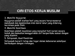 Image result for etos kerja muslim