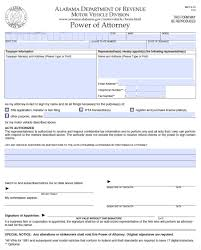 alabama motor vehicle power of attorney form mvt 5 13 power of attorney power of attorney