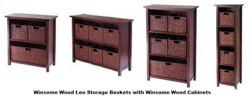 Various Winsome Storage Cabinets with Baskets