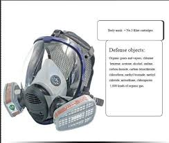 industry full face survival gas safety mask for work filter breath spray paint mask pesticide respirator dust