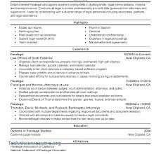 Immigration Paralegal Resume Sample Best of Legal Resume Objective Paralegal Resume Objective Sample Paralegal