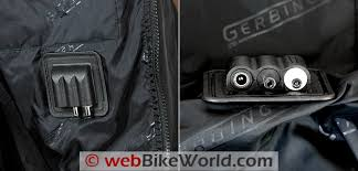 gerbing microwire heated jacket liner review webbikeworld gerbing s microwire heated jacket liner internal electrical connectors