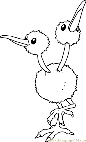 Small Picture Doduo Pokemon Coloring Page Free Pokmon Coloring Pages