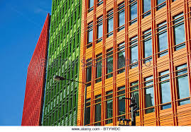 central saint giles office building google headquarters stgiles high street brightly colored offices central st