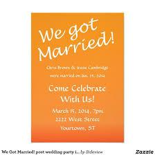 After Wedding Celebration Invitation Wording Wedding Celebration