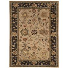 dynamic rugs charisma ivory eggplant 10 ft x 14 ft indoor area rug