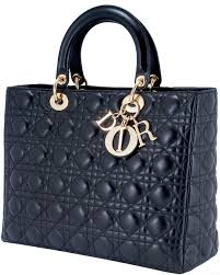 Dior Large Black Quilted Bag & Lady Dior Large Black Quilted Bag Adamdwight.com