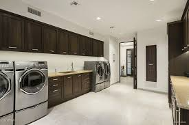 Contemporary Laundry Room with High ceiling, 5