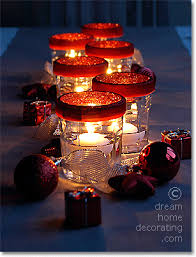 Decorated Jam Jars For Christmas Christmas Table Settings And Christmas Table Decoration Ideas From 57