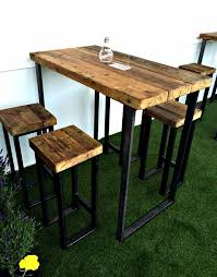 Metal and wood patio furniture Weather Resistant New Industrial High Table With Thick Wooden Top For The Home Pinterest Furniture Table And Wood Furniture Pinterest New Industrial High Table With Thick Wooden Top For The Home