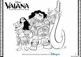 Coloriage Vaiana Disney La Legende Du Bout Du Monde Jecolorie Com