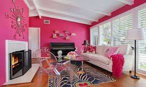 pink wall paintHot Pink Walls Living Room  Centerfieldbarcom