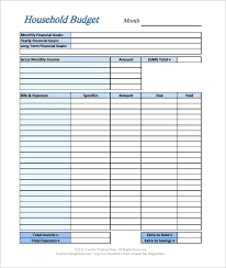 Simple Budget Template For Young Adults – Mklaw