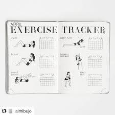 Exercise Tracker Bullet Journal Exercise Tracker Bullet