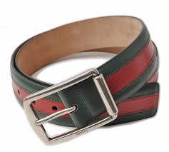 gucci belt men gucci sherry line green red leather 295331 btt5n 8460 グッチ 財布