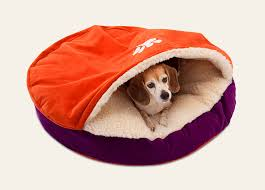 Clemson Superfan Luxury Cozy Cave Dog Bed Snoozer U